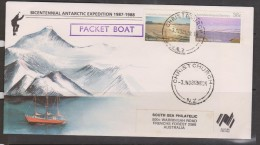 Australian Antarctic Territory 1988 Bicentennial Expedition Packet Boat Cover - Australian Antarctic Territory (AAT)