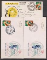 Australian Antarctic Territory 1968 5c Seal 3 Base Set FDC - Australian Antarctic Territory (AAT)