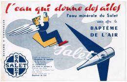 BUVARD L'EAU QUI DONNE DES AILES L'EAU MINERALE DU SALET VOUS OFFRE LE BAPTEME DE L'AIR - Softdrinks