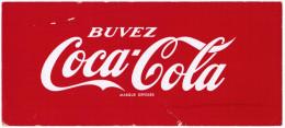 BUVARD BUVEZ COCA-COLA MARQUE DEPOSEE