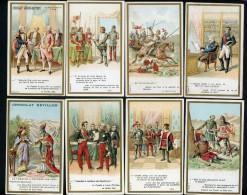 Lot De 8 Chromos Lith. J. Minot VM2-5, Personnages Célèbres, Mots Historiques, Différentes Marques - Cromos