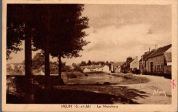 - FRANCE (77) - CPSM Ayant Voyagé MEUN 1952 - Le Marchais - Edition ALAIN - - Other Municipalities