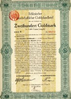Deutshland.Schlesischer Landschaftlicher Goldpfanbrief.200GM - Banque & Assurance