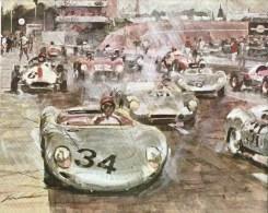 Avusrennen  -  1958  -  Jean Behra  -  Porsche RSK  -  Art Print By Walter Gotschke - Le Mans