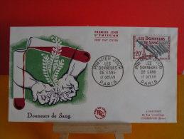 FDC - Les Donneurs De Sang - Paris 17.11.1959 - 1er Jour, Coté 3.50 € - FDC
