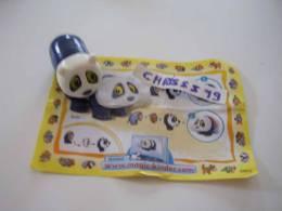 Kinder Surprise Série Animaux : Panda (milieu Du Corps Bleu) NV045  NV 045 + Bpz - Inzetting