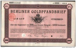 Berliner Goldpfanbrief.1000 GM - Banque & Assurance