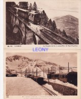 2   CPSM 9X14   De LUCHON  (31) -   SUPERBAGNERES - Train à Crémaillère Dans La Neige - - Luchon