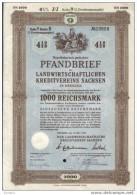 Dresden.Pfanbrief 4 1/2%.1000 RM - Banque & Assurance