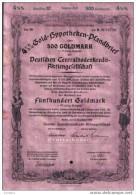 $ 1/2% Gold-Hypotheken-Pfanbrief .1937.500 GM - Banque & Assurance