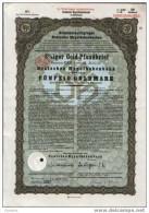 Moiningen 8% Gold-Pfanbrief.50 GM.1930 - Banque & Assurance
