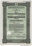 4% Weimar.Deutsche Hypothekenbank.1941 - Banque & Assurance
