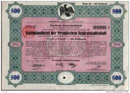 Prussian Zentralstadttshaft.500 GM - Banque & Assurance