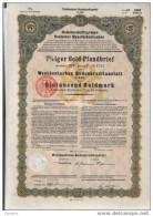 Kelner 7% Gold-Pfanbrief.1000 GM - Banque & Assurance