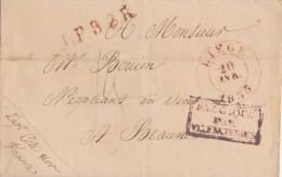 BELGIQUE  LETTRE SANS  CORRESPONDANCE  1835 - 1830-1849 (Belgique Indépendante)