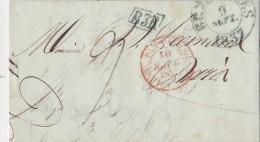 BELGIQUE  LETTRE AVEC   CORRESPONDANCE  1837 - 1830-1849 (Belgique Indépendante)