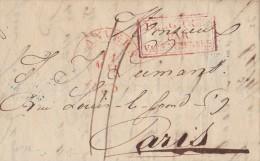 BELGIQUE  LETTRE AVEC   CORRESPONDANCE  1835 - 1830-1849 (Belgique Indépendante)