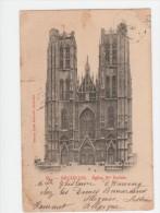 Bruxelles - eglise Ste Gudule - circul� de Lessines juin 1900