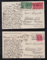 Kuba Cuba 1928 HABANA 2 Picture Postcards To LEIPZIG Germany Tabaco Cigar Advertising PM - Cuba