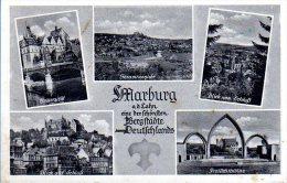 Marburg - S/w Mehrbildkarte 12 - Marburg