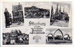 Marburg - S/w Mehrbildkarte 13 - Marburg