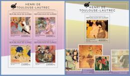 Gu14507ab Guinea 2014 Painting Henri De Toulouse-Lautrec 2 S/s - Impressionisme