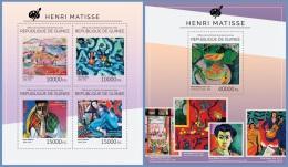 gu14508ab Guinea 2014 Painting Henri Matisse 2 s/s