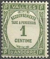 ANDORRA..1935..Michel # 16...MH. - Andorre Français