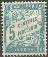 ANDORRA..1937..Michel # 17...MH...MiCV - 10 Euro. - Andorre Français