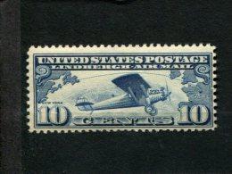 USA  Met Scharnier Mint Hinged Postfrisch Mit Falz SCOTT C10 Lindberghs Plane - Air Mail