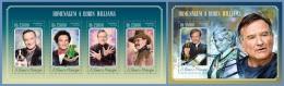 st14516ab S.Tome Principe 2014 Cinema Robin Williams 2 s/s