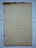 Document Tapuscrit 1920 Travaux Du Comité Maçonnique  D'études Franco - Annamites Le Bolchévisme Russe Par M. Angles - Historische Documenten