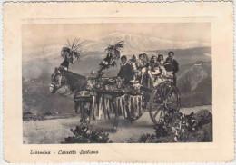 Taormina. Carretto Siciliano. Chariot Sicilien.  Costumes Traditionnels. Rare. Pas Vue Sur Delcampe. Grd Format. 2 Scans - Unclassified