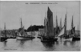 Concarneau Finistere Thoniers Rentrant Port 1910 état Superbe - Concarneau