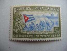 """Cuba  1951  N° Y&T : PA 40 """"100 Ans Du Drapeau Cubain""""  1V.  Charn. - Poste Aérienne"""