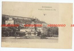 GROTTAMMARE - PIAZZA E FONTANA S. PIO  F/PICCOLO  VIAGGIATA ANIMATA - Ascoli Piceno