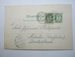 1902   ,  Auf Dem Dampfschiff  , Ganzsache  Nach Deutschland    Mit Text Und Stempel - Norwegen