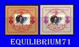 E103/104** J.O De Mexico Surchargés / O.S Te Mexico Met Opdruk - Erinnophilie