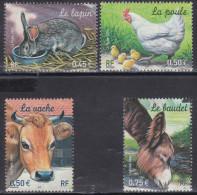 3662-3665Nature De France : Animaux De La Ferme (série Indivisible) - Neufs