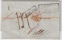 Lettland, 1853, Riga Nach Frankreich , #1340 - Lettland