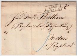 Lettland, 1864, Preußen Nach Mitau ,Mitau  Roter Stp. #1341 - Lettland