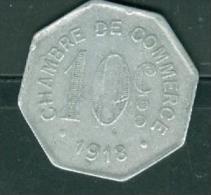 ROUEN - Année 1918 - 10 Cts - CHAMBRE DU COMMERCE  -  Pia9810 - Monetary / Of Necessity