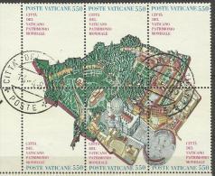 Città Del Vaticano 1986,  Vaticano Patrimonio Mondiale (o), Blocco 6 Valori - Vatican