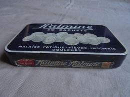 """Ancienne Boite En Fer 30 Cachets """"KALMINE P. METADIER Tours FRANCE"""" - Scatole"""