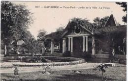 Cpa  CAMBODGE  Pnom Penh Jardin De La Ville La Voliere - Cambodge