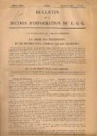 """Document Militaire - Bulletin De La Section D´Information Du G.Q.G - """"La Crise Des Transports Et Les Destructions..."""" - Historical Documents"""