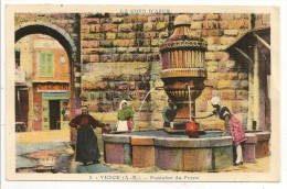 06 - VENCE (A.-M.) - Fontaine Du Peyra - éd. Munier, Montluet N° 2 Colorisée - 1946 - Vence