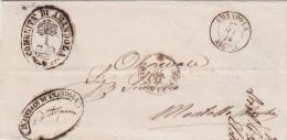 - Lettre Préphilatélie En Franchise D´Italie (1874) Ville D´Amandola Illustré Amandier, Amande (Almond - Mandelbaum) - Fruits