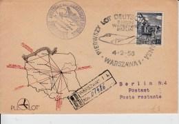 Luchtpost Warschauw - Berlin  4.2.1950 - Ballonpost
