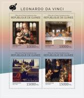 gu14512a Guinea 2014 Paiting Leonardo da Vinci s/s